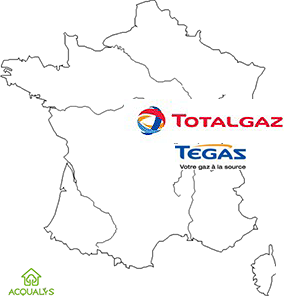 Carte de france Totalgaz Portail habitat Picbleu