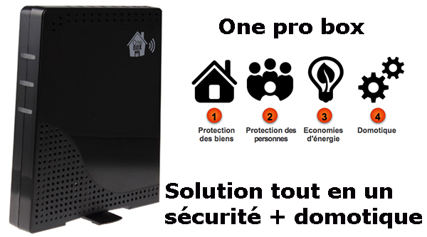 One pro box sécurité + domotique