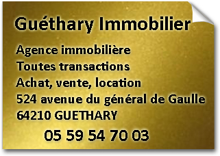 Adresse agence Guethary immobilier 64