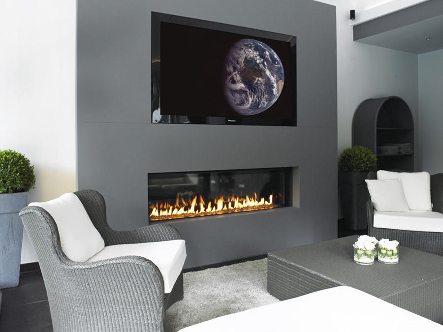 principes installation et prix du foyer de chemin e au gaz. Black Bedroom Furniture Sets. Home Design Ideas