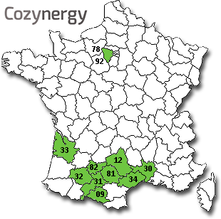 Carte France zones activité rénvation globale Cozynergy