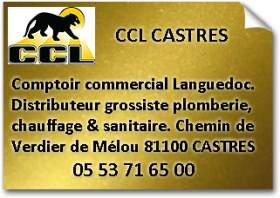CCL Castres 81100 Tarn Grossiste sanitaire Chauffage